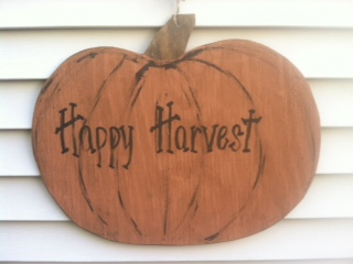 Hang a sign like this on the side of your house where there is empty space. You could put it inside as well if it suits your fancy.