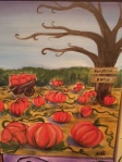 pumpkin patch painting