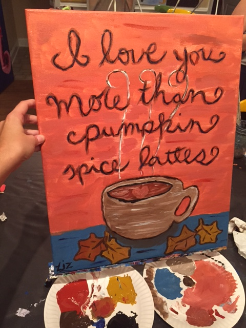 pumpkin spice latte painting