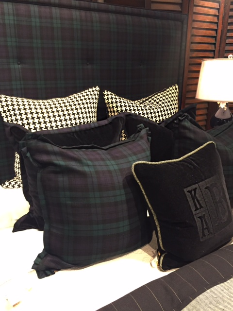 plaid bedding