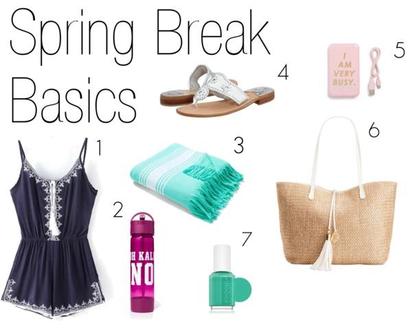 spring break necessities