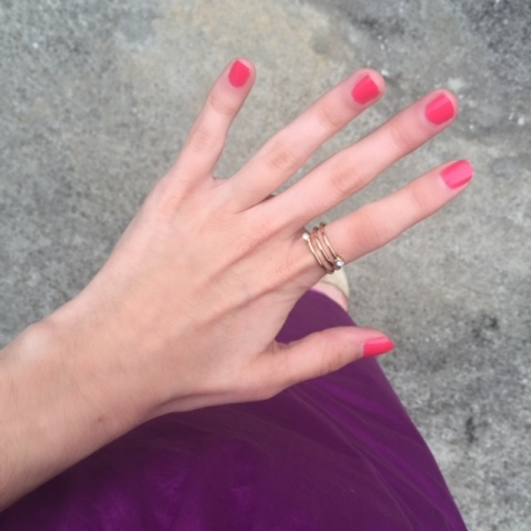 strawberry nail color