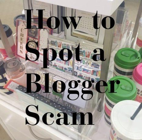 blogger scams
