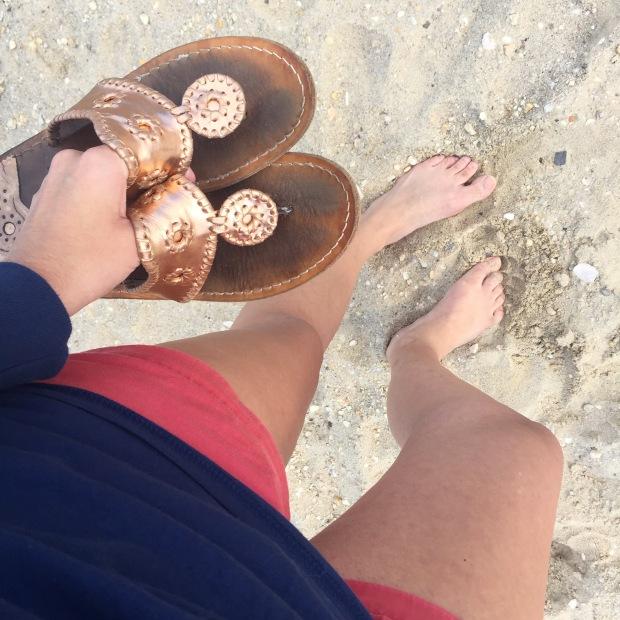 jack rogers on the beach