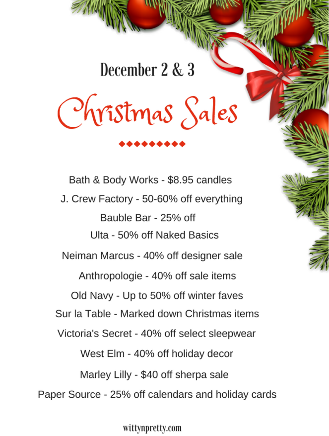 sales for this weekend