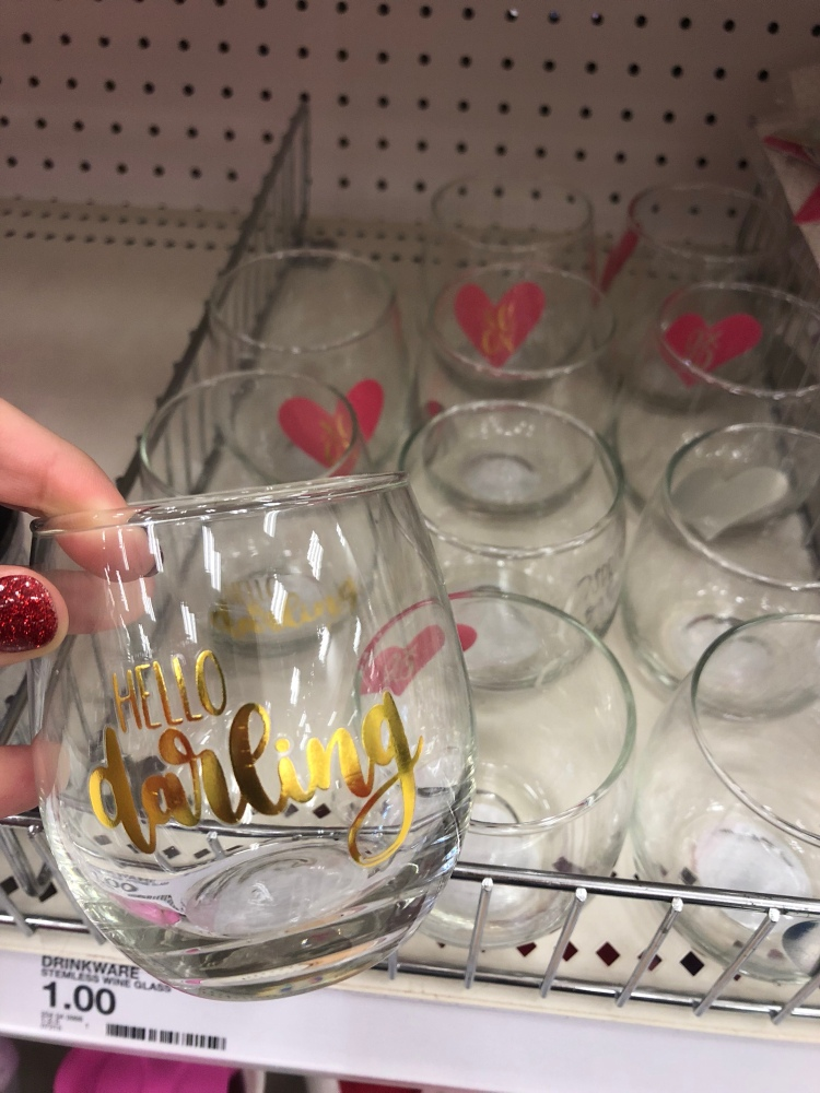 dollar spot wine glass