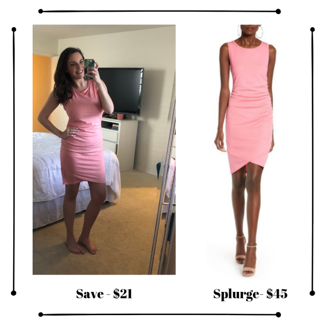 nordstrom leith dress dupe