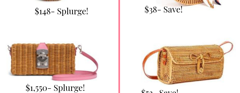 designer wicker bag dupes