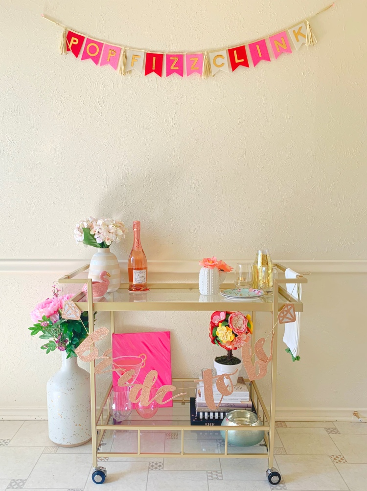 bridal shower bar cart