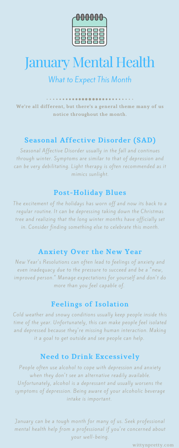 january mental health infographic