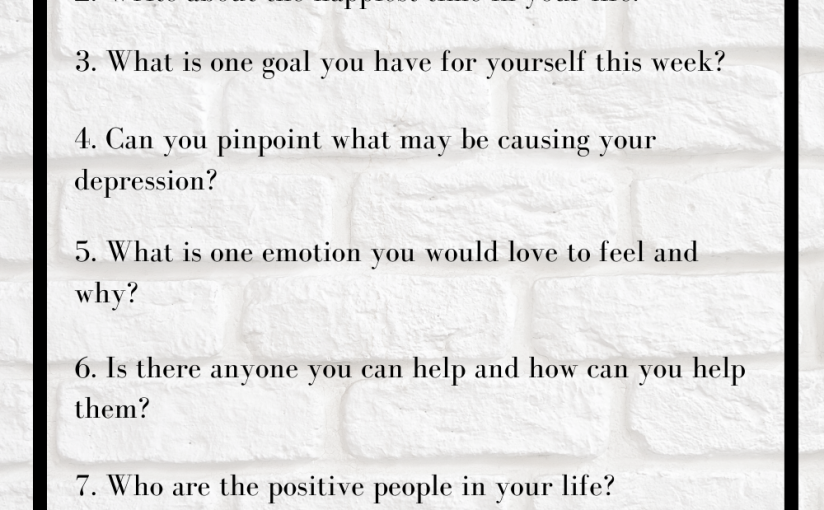 Journal Prompts to Get You Writing About Your Depression